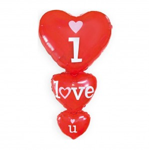 "Balon Serca ""I Love You"" 70x40 cm"