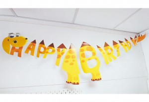 Girlanda Dino Happy Birthday 165x40 cm