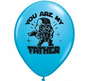 Balon Star Wars: You Are My Father Pastel Blue 14 cali - 35 cm