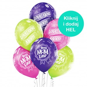Balony Best Mom Ever mix 6szt