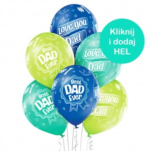 Balony Best Dad Ever mix 6szt