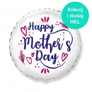 Balon Happy Mother's day okrągły 18 cali - 45 cm