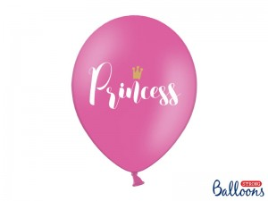 Balon Princess Pastel Hot Pink 14 cali - 35 cm
